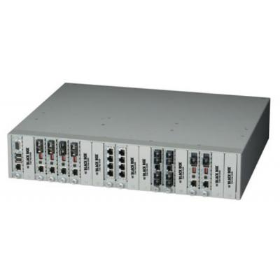 Black Box Dynamic Fiber Conversion System 1-Slot Power Chassis with (1) AC Power Supply Netwerkchassis