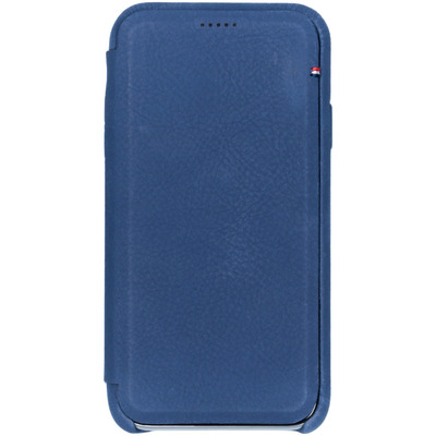 Leather Slim Wallet iPhone Xr - Blauw - Blauw / Blue Mobile phone case