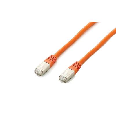 Equip Cat.6a S/FTP 1.0m Netwerkkabel - Oranje