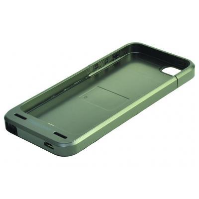2-power mobile phone case: Metallic Grey Case, iPhone 5, 124 x 59 x 8 mm, 45 g - Grijs