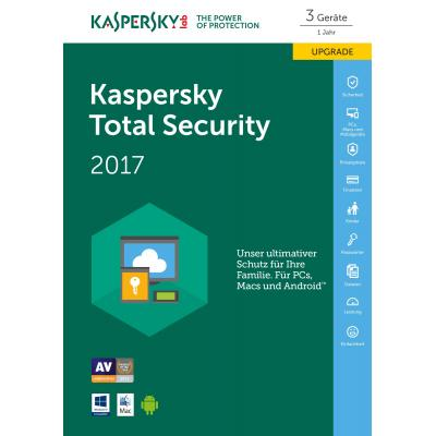 Kaspersky lab software: Total Security 2017