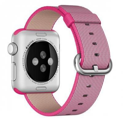 Apple : 38mm Pink Woven Nylon - Roze