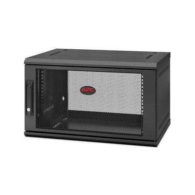 APC NetShelter WX AR106SH4, 6U/HE, 19inch Wandpatchkast, Geschikt voor muurbevestiging, Gemonteerd, 400mm diep Rack .....