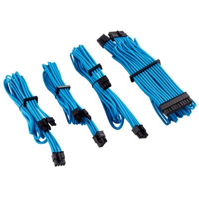 Corsair Premium Individually Sleeved PSU Cables Starter Kit Type 4 Gen 4, Blue - Blauw