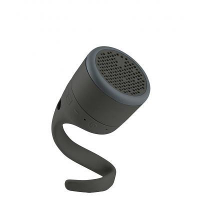 Boom draagbare luidspreker: BT, WR, Li, 8h, Micro USB, Grey/Black - Zwart, Grijs