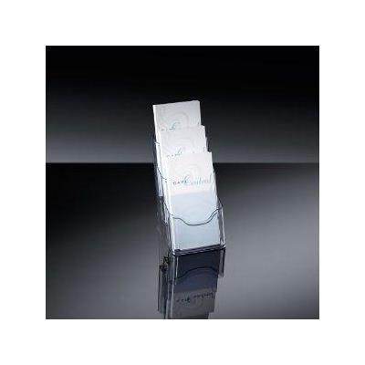 Sigel ordner: LH133 - Tafelstandaard voor folders acrylic, 3 vakken - Transparant