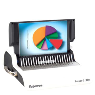 Fellowes inbindmachine: Pulsar-E 300 elektr. inbindmachine plastic bindrug - Wit