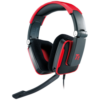 Tt eSPORTS Shock headset - Zwart, Rood
