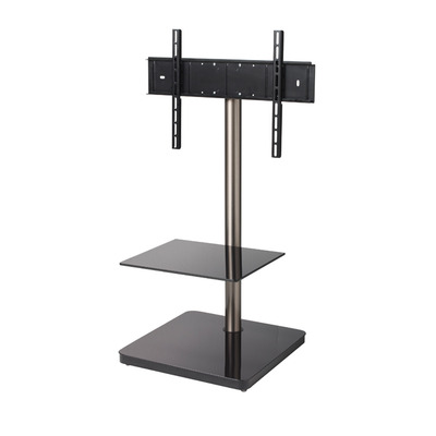 B-Tech Flat Screen TV Stand with Square Base TV standaard - Zwart