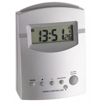 Tfa wekker: Radio contolled alarm clock - Zilver