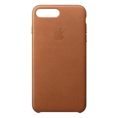 Apple mobile phone case: Leren hoesje voor iPhone 8 Plus/7 Plus - Zadelbruin