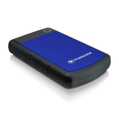 Transcend 2TB StoreJet 25H3 Externe harde schijf - Zwart, Blauw