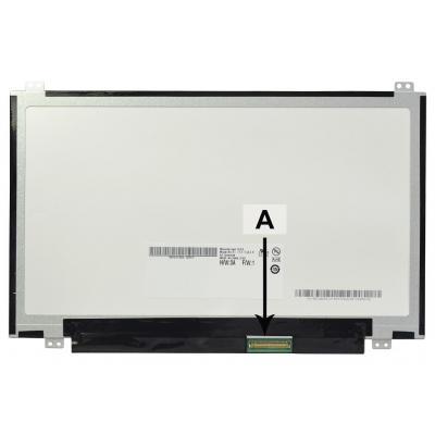 """2-power notebook reserve-onderdeel: 29.464 cm (11.6 """") HD+ 1366x768 LED Matte - Zwart, Wit"""