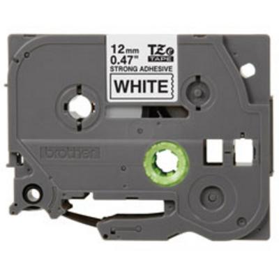Brother 12 mm zwart op witte tape gelamineerd sterk klevend (8 m) Labelprinter tape