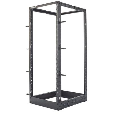 "Intellinet 19"" 4-Post Open Frame, 26U, Max 360kg, Flatpack, Black Rack - Zwart"