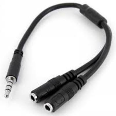 Lenovo Startech Headset Splitter - Zwart