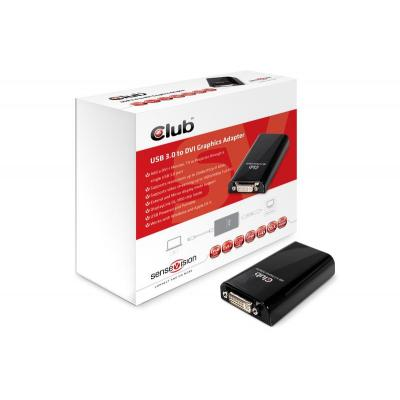 Club3d : SenseVision USB3.0 to DVI-I Graphics Adapter - Zwart