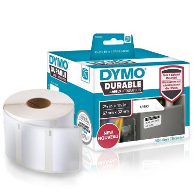 Dymo labelprinter tape: 57 x 32 mm, white, Extra Strong 11354 - Wit