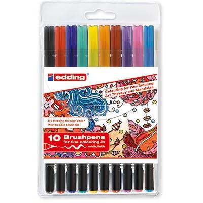 Edding viltstift: 1340 brushpen - Multi kleuren