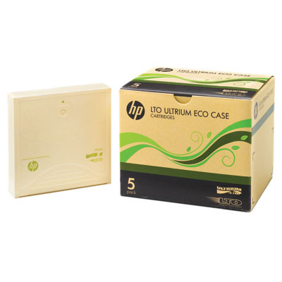 Hewlett Packard Enterprise LTO-5 Ultrium 3TB Eco Case Data Cartridges 5 Pack Datatape - Blauw