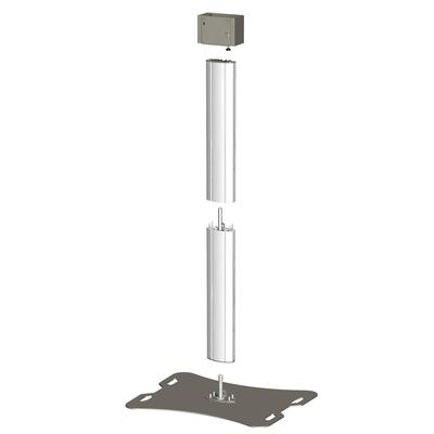 SmartMetals Deelbaar statief voor 2 schermen t/m 50 inch, dubbele uitvoering TV standaard - Aluminium,Grijs