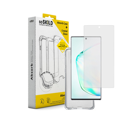 SoSkild Impact Case Transparent en Tempered Glass voor Samsung Galaxy Note10 Absorb 2.0 Mobile phone case