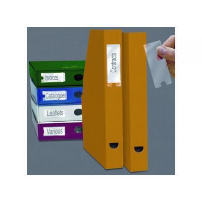3l magnetisch bord: Etikethouder 35x75mm zelfklevend/pak 12