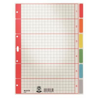 Leitz indextab: Kartonnen tabblad - Veelkleurig