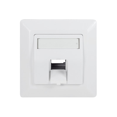 LogiLink Faceplate for 1 keystone jack, 45° outlet, signal white - Wit