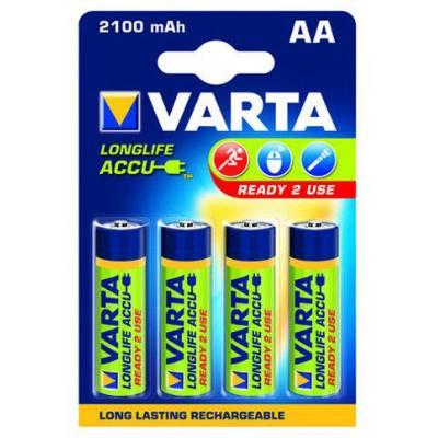 Varta Longlife Accu AA 2100 mAh Batterij - Blauw, Groen