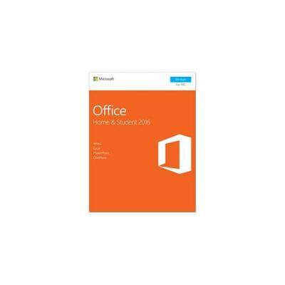 Microsoft Office Home & Student 2016 software suite