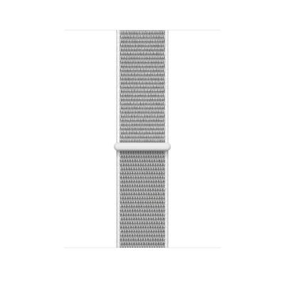Apple : Geweven sportbandje - Schelpenwit (42 mm) - Zilver