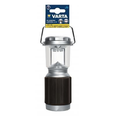 Varta zaklantaarn: XS Camp Lantern LED 4AA - Zwart, Zilver
