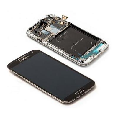 Samsung mobile phone spare part: GT-I9505 Galaxy S4, Complete Front+LCD+Touchscreen, dark black