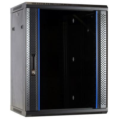 DS-IT 15U wandkast met glazen deur 600x600x770mm Rack