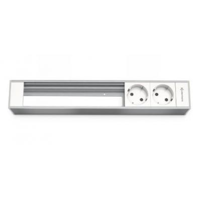 Kindermann Module Panel for 6 Plates, 2 x mains Inbouweenheid - Aluminium, Wit