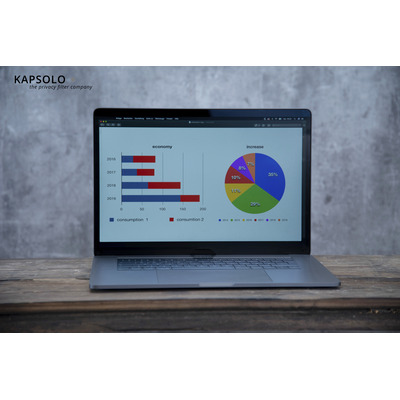 "KAPSOLO 2H Antimicrobial Screen Protection for 31,75cm (12,5"") Wide 16:9 Laptop accessoire - Transparant"
