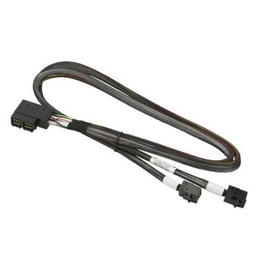 Supermicro 2x MiniSAS HD SFF-8643 to 2x MiniSAS HD Kabel - Zwart