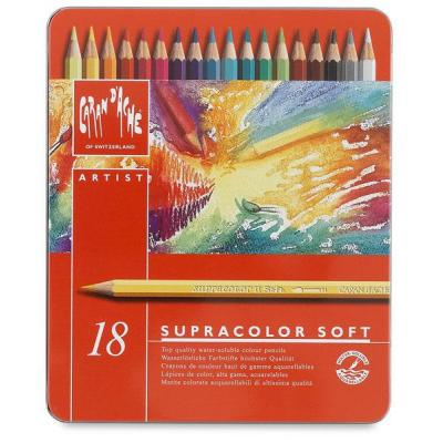 Caran d-ache potlood: SUPRACOLOR Soft Aquarelle 18 - Multi kleuren, Rood
