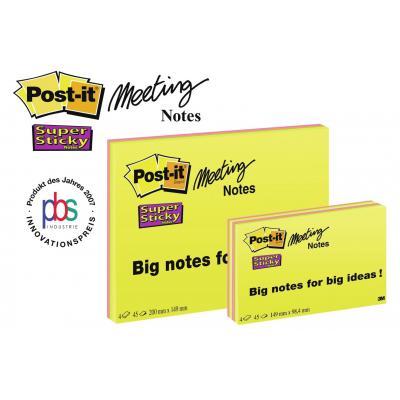Post-it zelfklevend notitiepapier: 6845-SSP-EU - Groen, Oranje, Roze, Geel