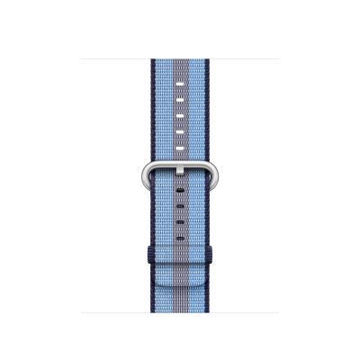 Apple : Bandje van geweven nylon - Middernachtblauw (gestreept, 38 mm)