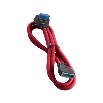 Cablemod ModMesh, Right Angle, Internal, USB 3.0, 50cm, Red USB kabel - Rood