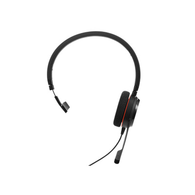 Jabra headset: Evolve 20 UC Mono - Zwart