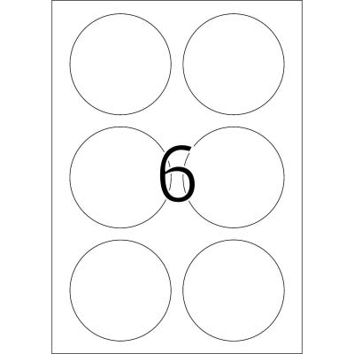 Herma etiket: Removable labels A4 Ø 85 mm round white Movables/removable paper matt 150 pcs. - Wit