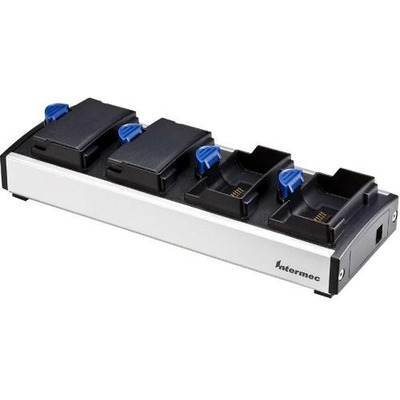 Intermec Battery Charger, Quad, CK60/PB42 Oplader - Zwart,Blauw,Grijs