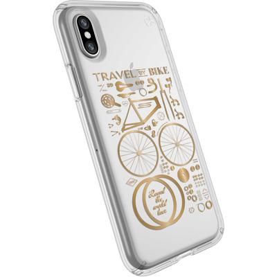 Speck Presidio Clear + Print Mobile phone case - Goud, Transparant