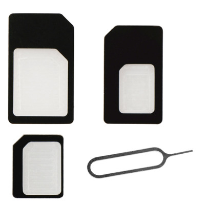 Behello SIM/flash memory card adapter: SIMcard Adapters (SIM/Micro SIM/Nano SIM) - Zwart