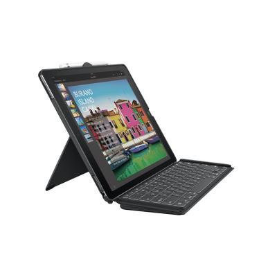 Logitech mobile device keyboard: SLIM COMBO - Zwart, QWERTY