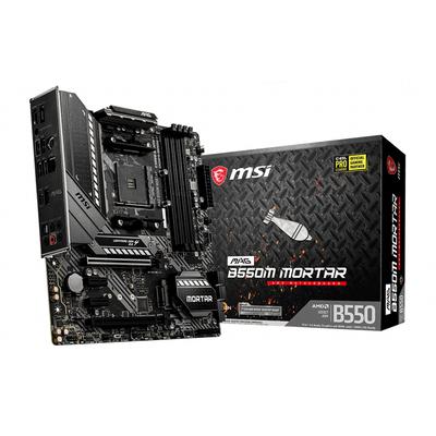 MSI AMD B550, AM4, 4x DDR4, HDMI, DP, SATA III, M.2, USB 3.2, 2.5G LAN, PS/2, S/PDIF, Micro-ATX, 244x244 mm .....