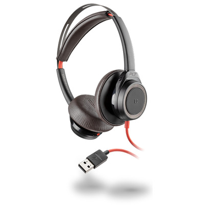 POLY Blackwire 7225 Headset - Zwart, Rood